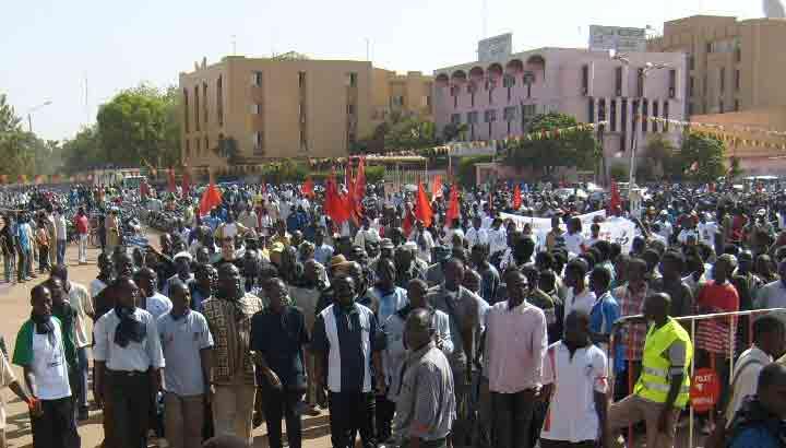 Demo in Ougadougou, Burkina Faso