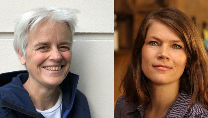 Wirtschaftskorrespondentin der taz Ulrike Herrmann und Katrin Elsemann vom Social Entrepreneurship Netzwerk Deutschland (SEND)