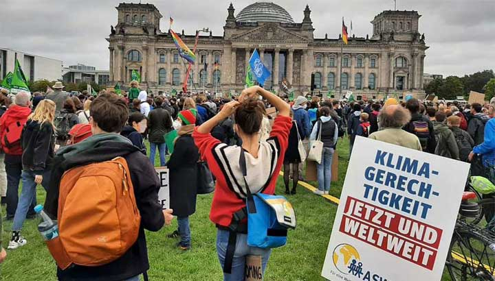 Die ASW beim Klimastreik 2021