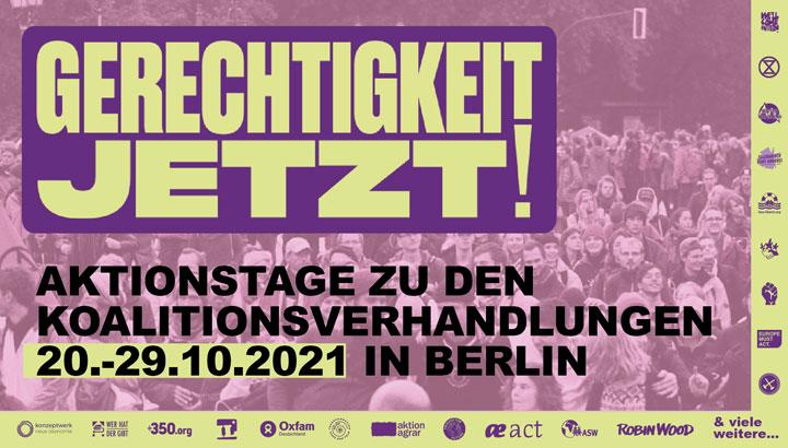 Plakat der Aktionstage Berlin