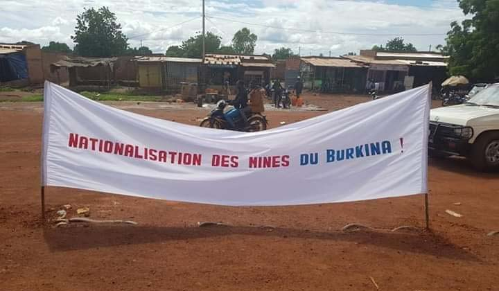 Banner der Demonstration der Bevölkerung in Houndé am 30. August 2019