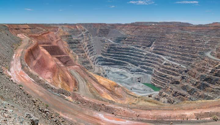 Offene Goldmine in Australien