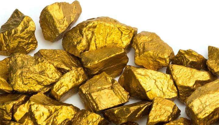 Gold-Nuggets unbekannter Herkunft