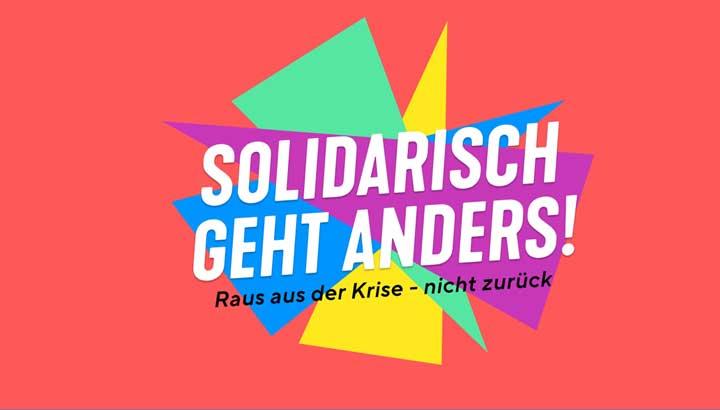 Kampagnenfoto Solidarisch geht anders