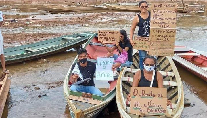 Widerstand gegen Wasserraub durch ein angeblich nachhaltiges Wasserkraftwerk