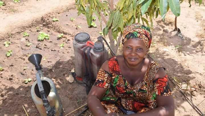 Bäuerin in Burkina Faso