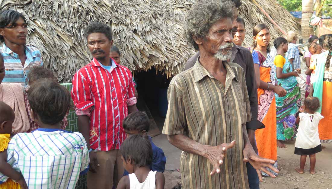 Dalits in einem Dorf in Andhra Pradesh, wo CRASA aktiv ist