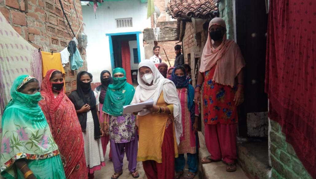 Muslimische Frauen in einem Bildungs-Projekt in Bihar