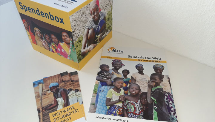 Material der ASW für Anlassspenden