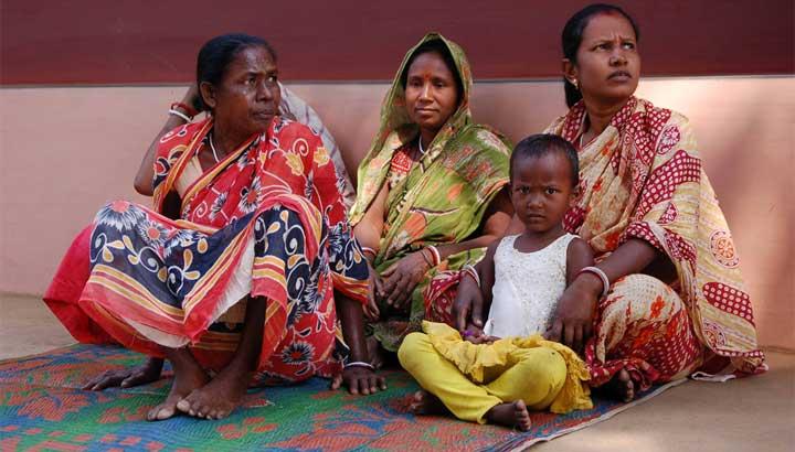 Eine Familie im ländlichen Indien