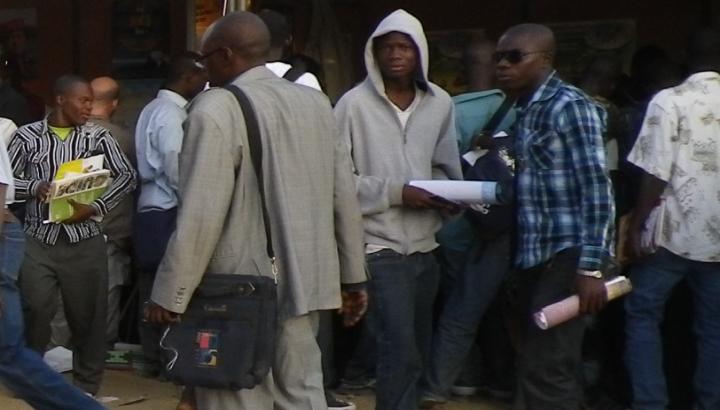 Friedliche Szene auf dem Weltsozialforum in Dakar